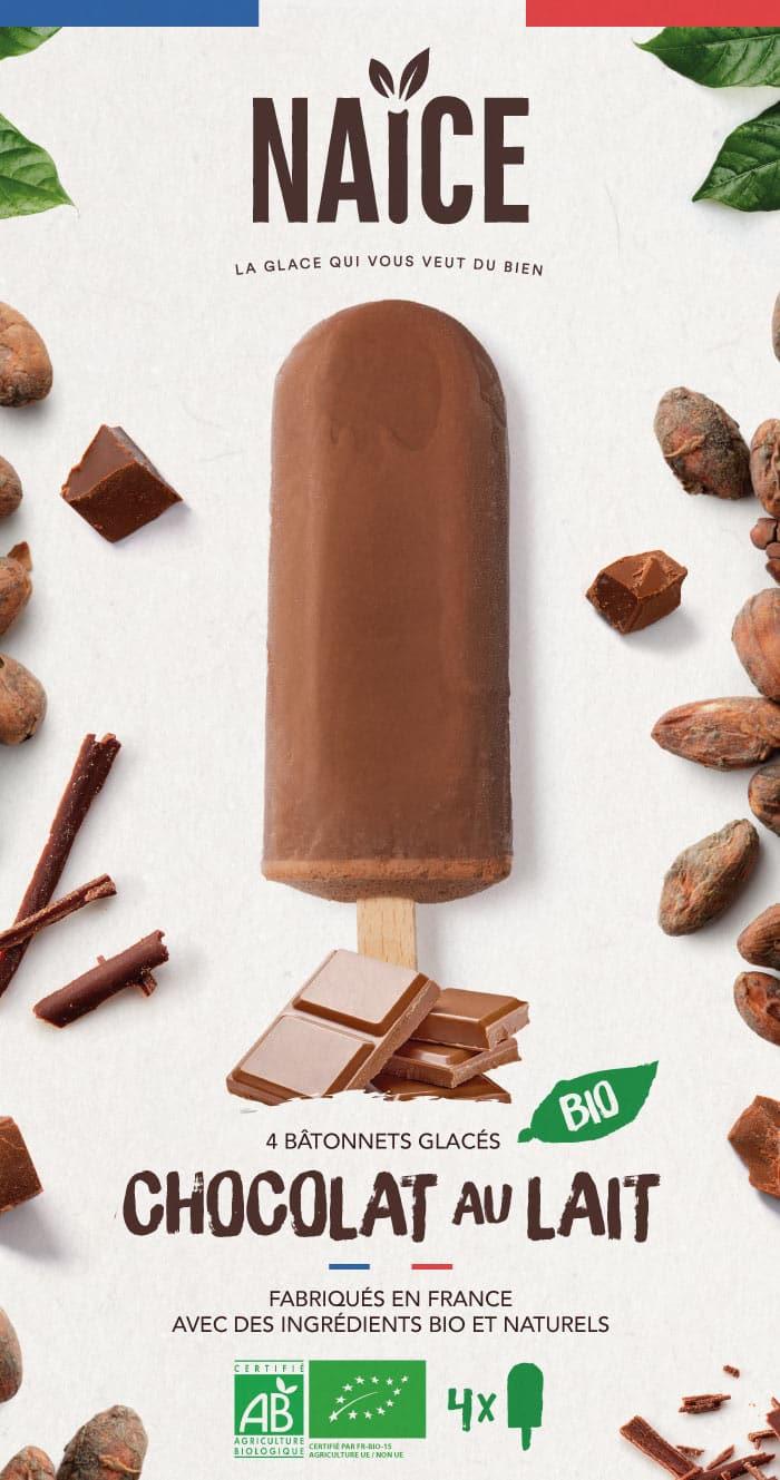 Packaging Naïce - Bâtonnets au Chocolat